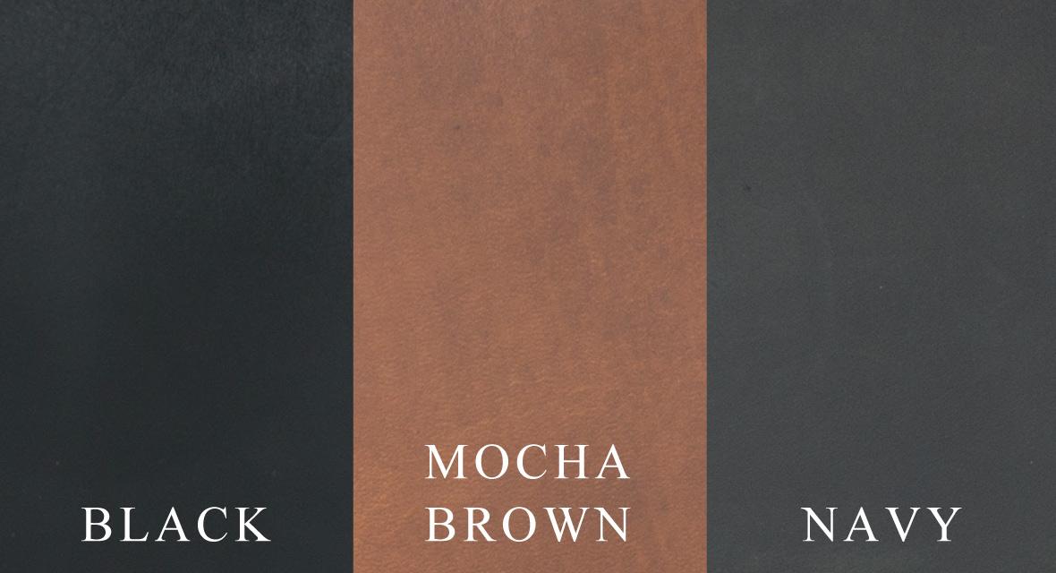 ブラック・ネイビー・モカブラウン