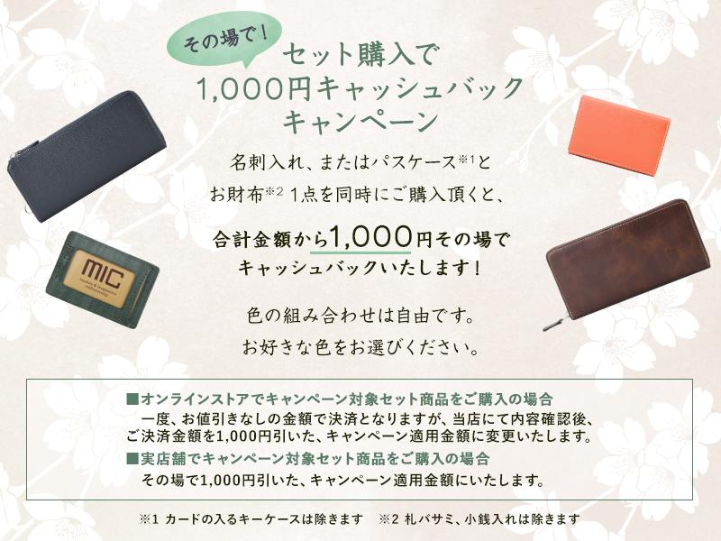 セット購入で1,000円キャッシュバックキャンペーン