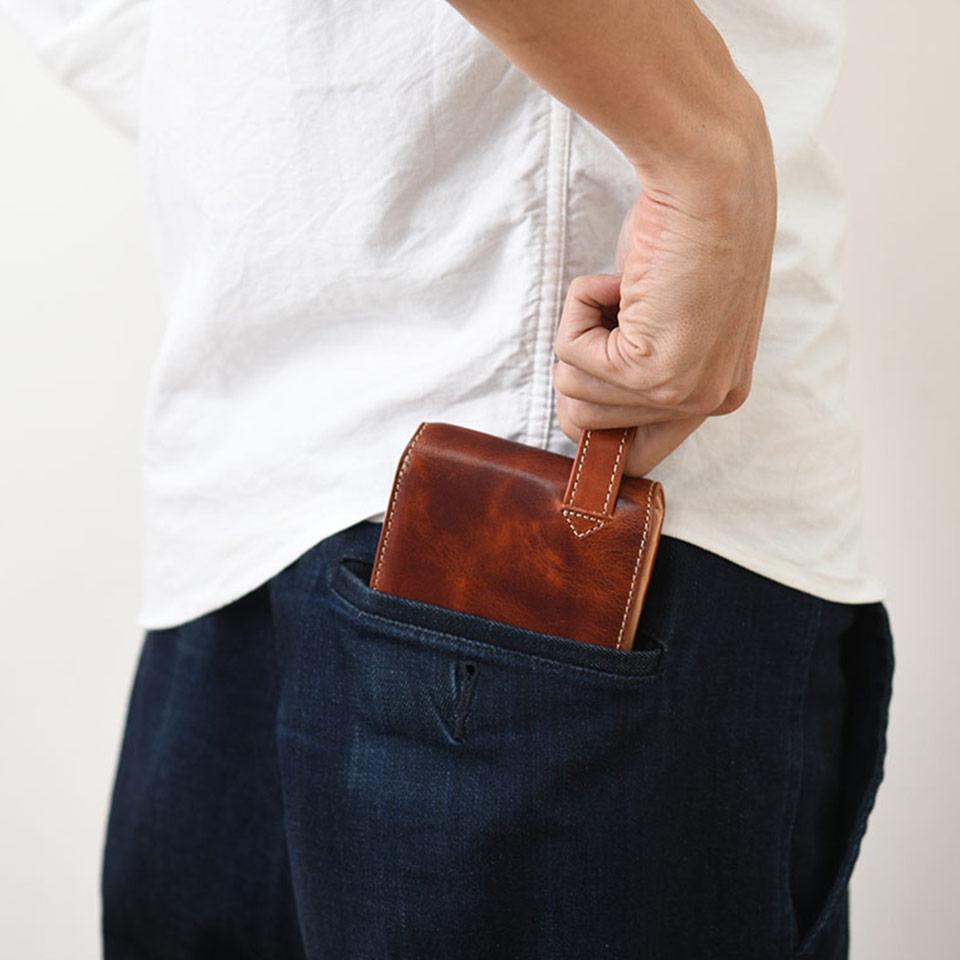 ヒップポケット革財布