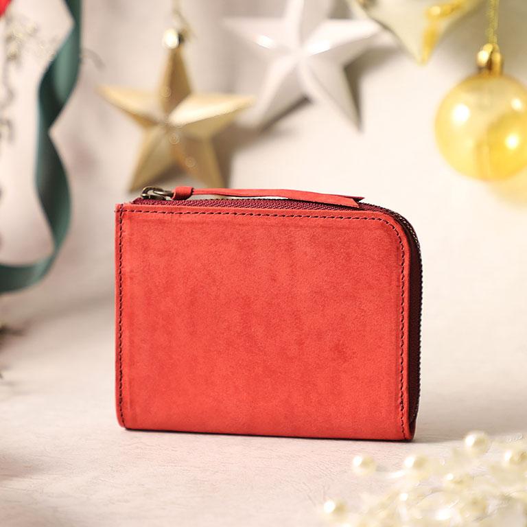 L字ファスナーミニ財布(キーチェーン付き)