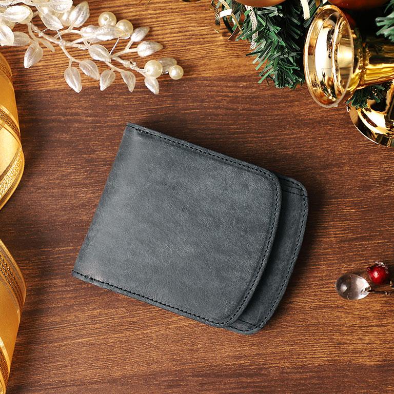 外ボックス小銭入れ付き二つ折り財布