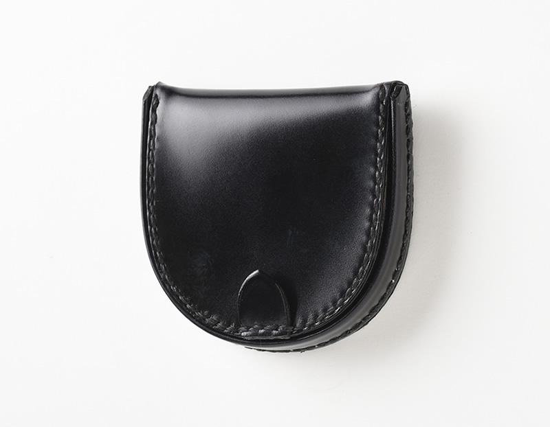 コードバン 馬蹄型小銭入れ革財布