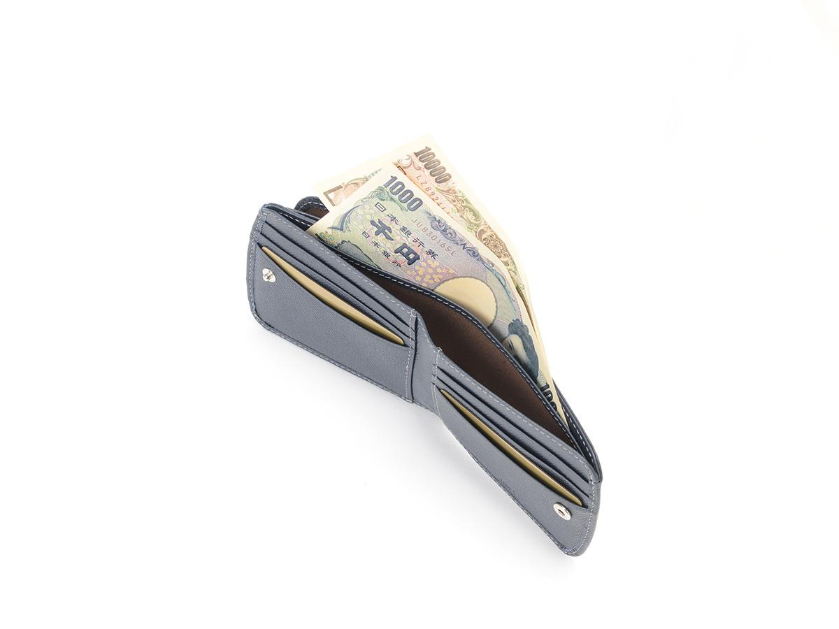 エンボス ヒップポケット外ボックス小銭二つ折り財布_02