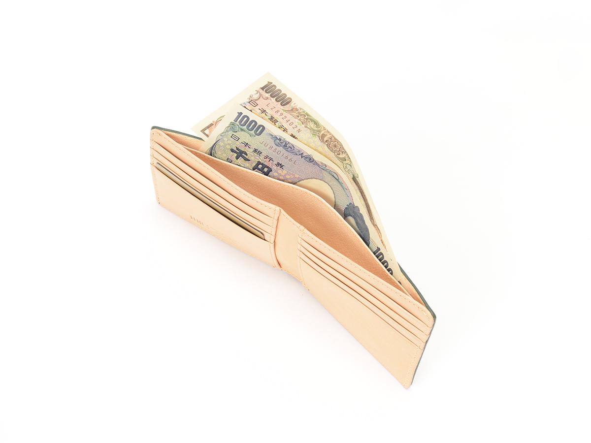 ブライドルレザー 二つ折り財布(小銭入れ無し)_02