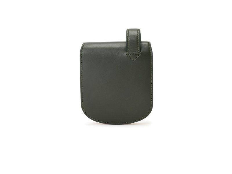 ペコスショルダー ヒップポケット革財布(小銭入れ付き) グリーン