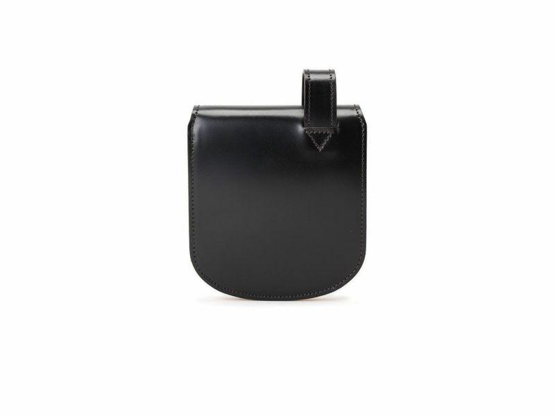 コードバン ヒップポケット革財布(小銭入れ付き) ブラック