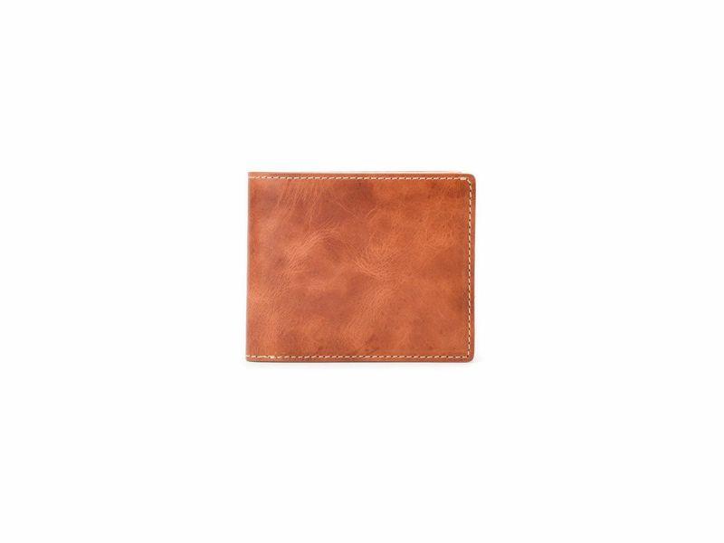 バグッダ 二つ折り革財布(小銭入れ無し) キャメル