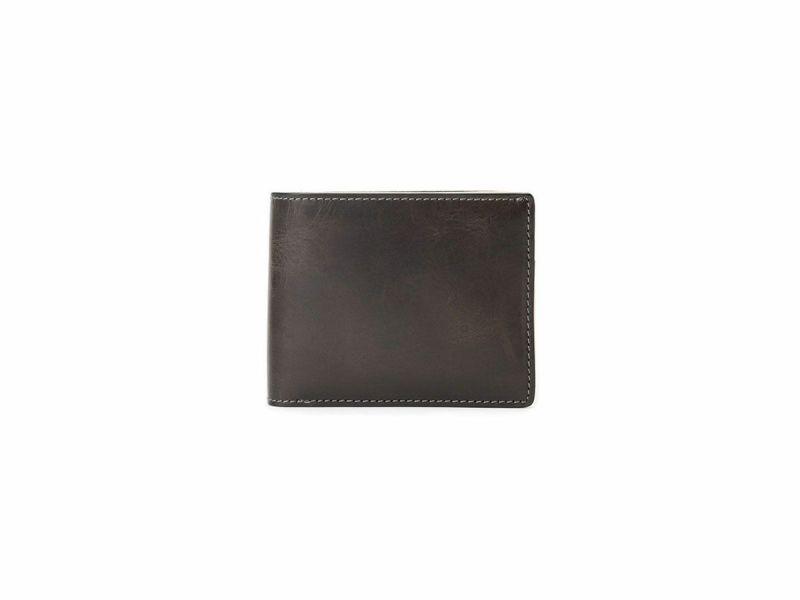 バグッダ 二つ折り革財布(小銭入れ付き) ブラック