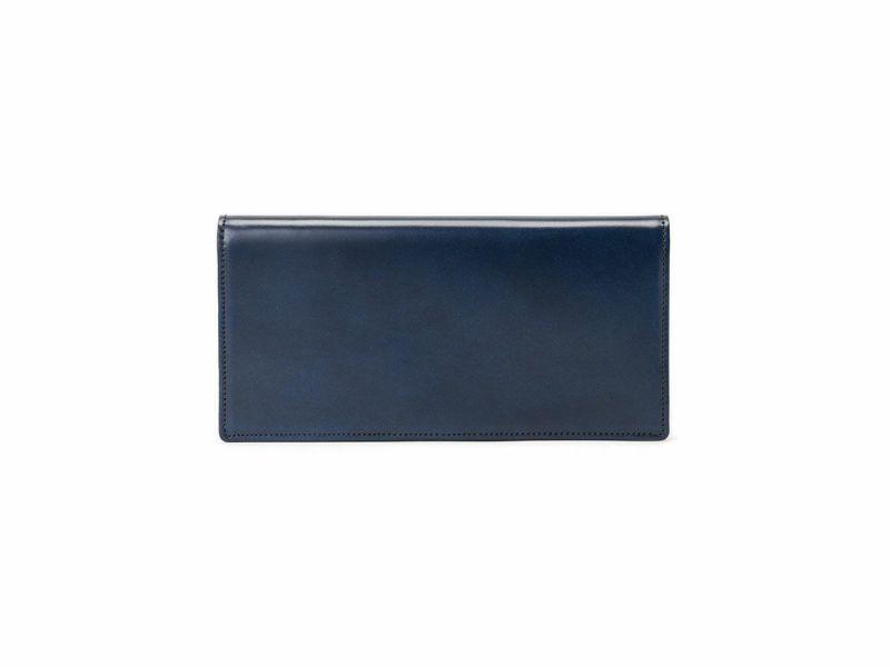 コードバン 長財布(小銭入れなし) ネイビー