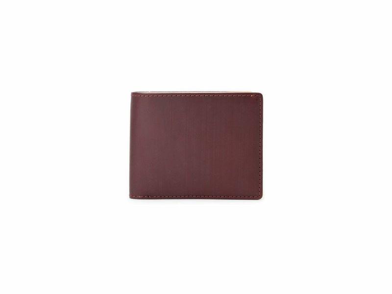 ブライドルレザー 二つ折り財布(小銭入れ付き) ワイン