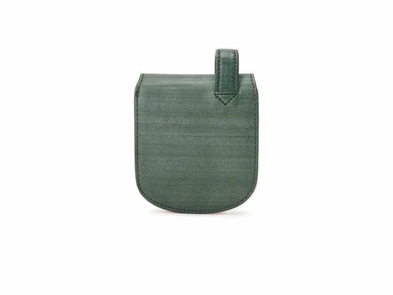 ブライドルレザー ヒップポケット革財布(小銭入れ付き) グリーン