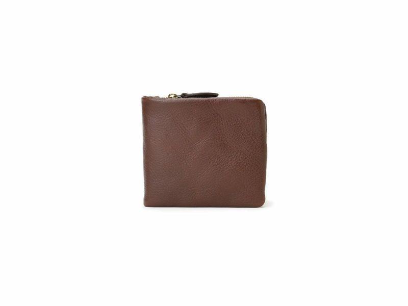 ブレターニャヴァケッタ L型ファスナー二つ折り財布 チョコ
