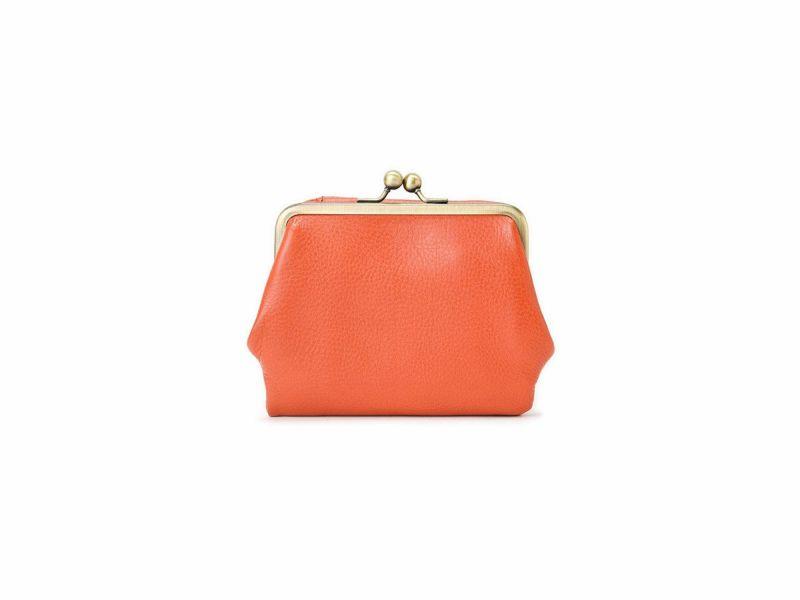 ブレターニャヴァケッタ 口金付き二つ折り財布 オレンジ