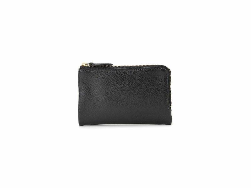 ブレターニャヴァケッタ  外L型ファスナー二つ折り財布 ブラック