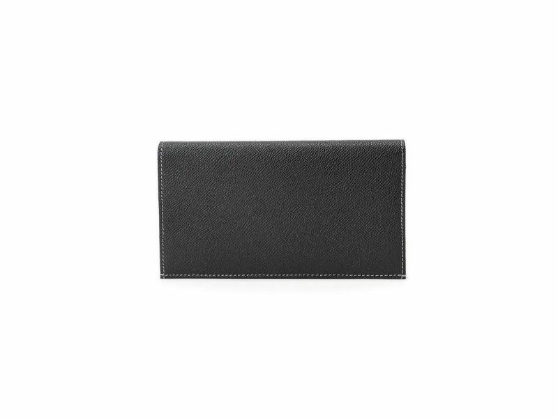 エンボス カード収納長財布 ブラック