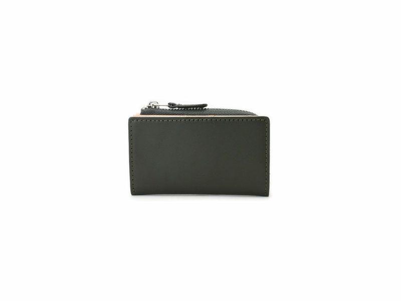 ペコスショルダー L型ファスナー小銭入れ付きキーケース グリーン