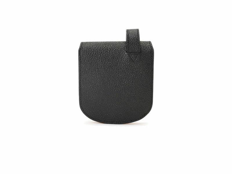 黒桟 漆 ヒップポケット革財布(小銭入れ付き) ブラック
