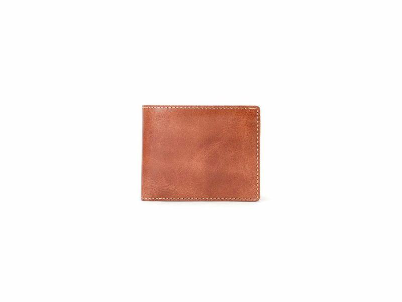 バグッダ 中ベラ付二つ折り財布 キャメル