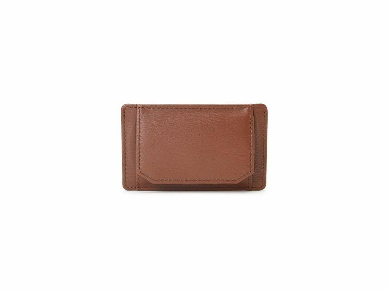カンガルー ボックス小銭入れ付きパスケース ブラウン