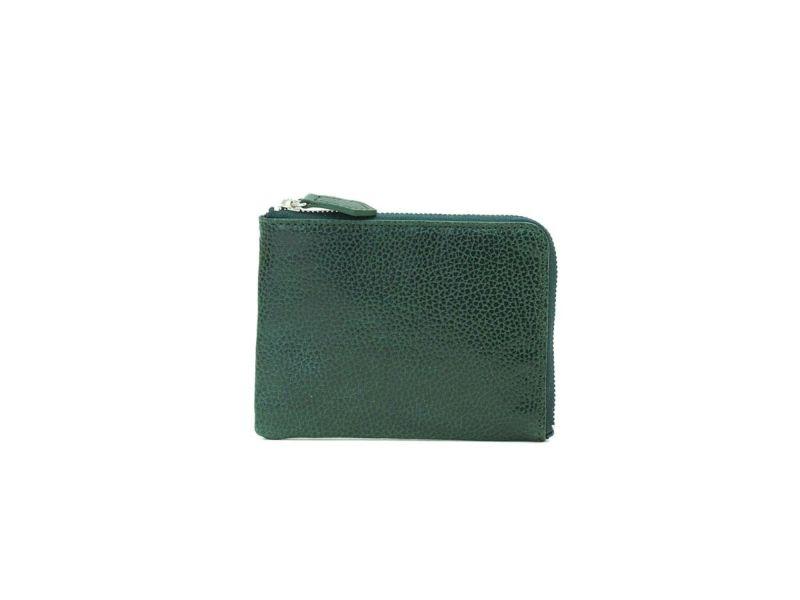 ボルゲリ L型ファスナー財布 グリーン