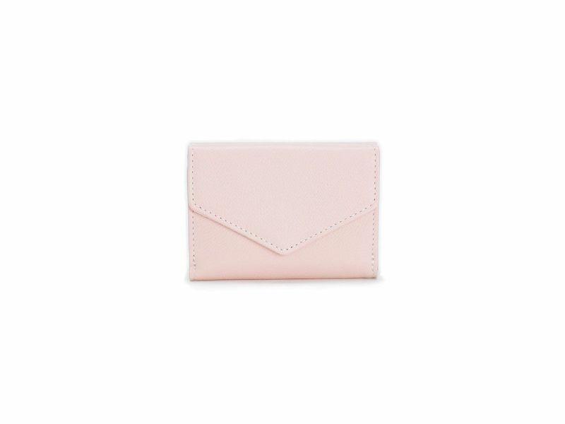 パーム 三つ折りミニ財布 ピンク
