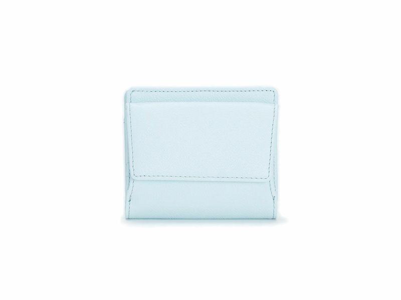 パーム ボックス小銭入れ二つ折り財布 スカイブルー
