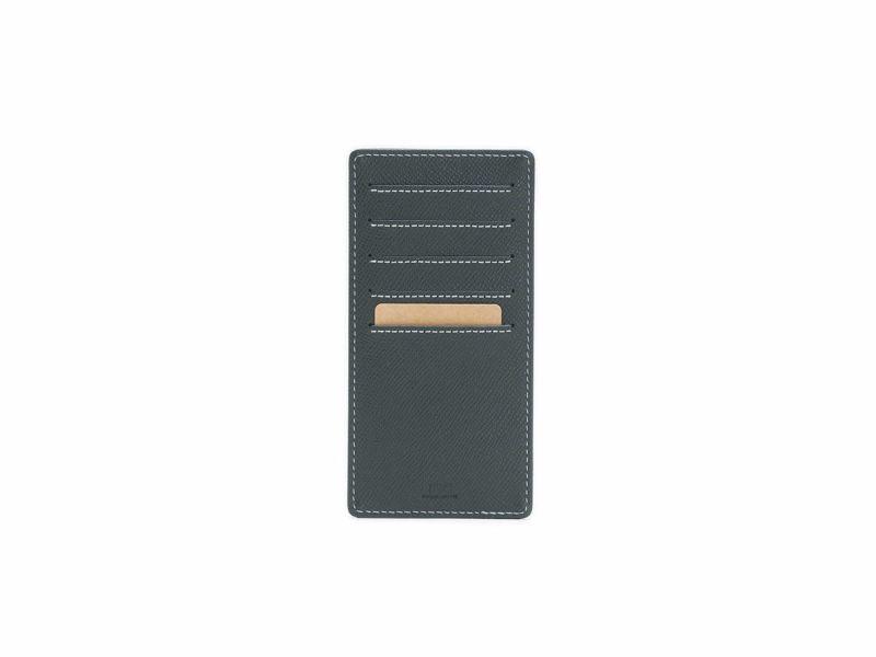 エンボス スリムインナーカードケース |ブラック