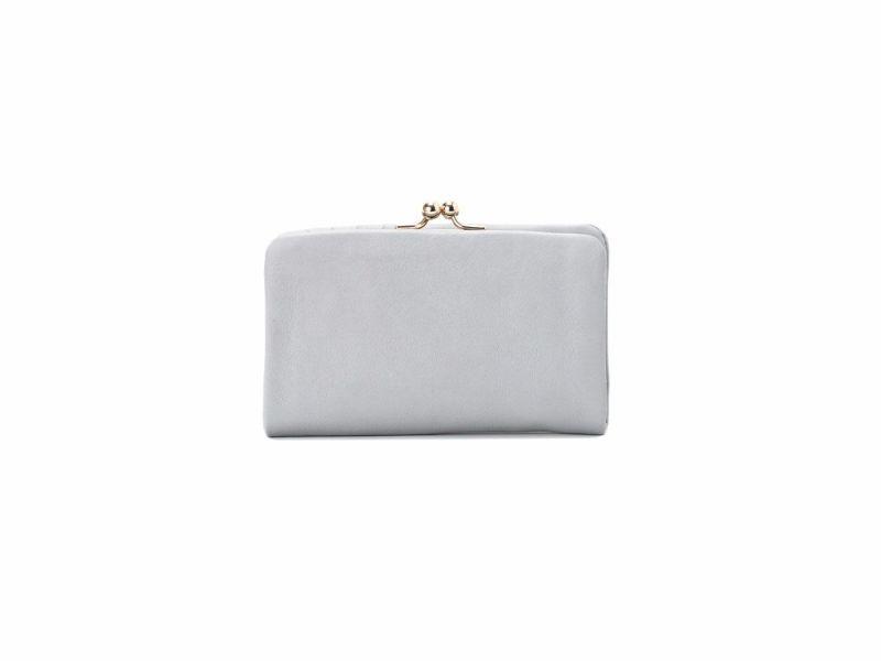 フェルモ がま口二つ折り財布|ブルー