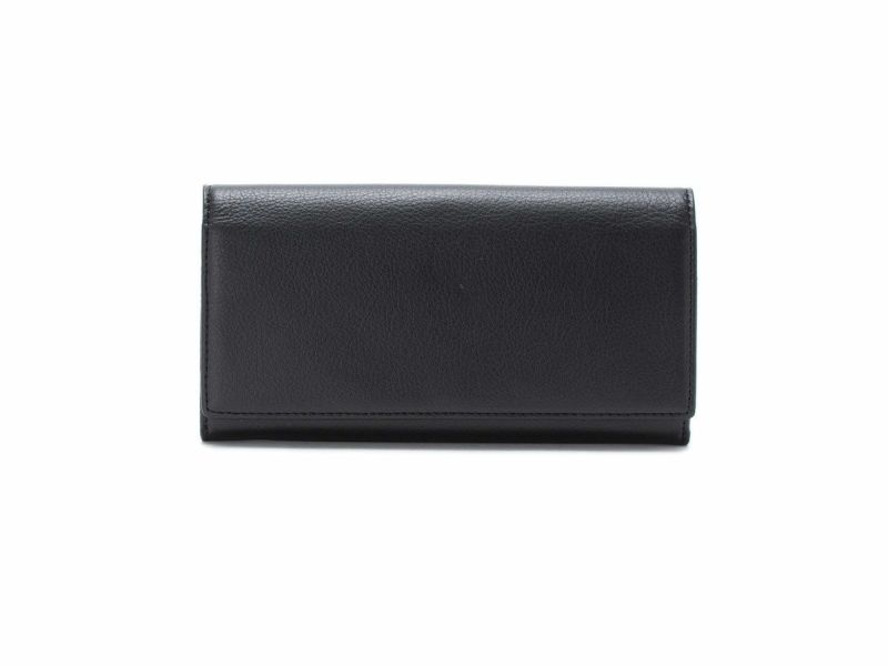 フェルモ 中がま口長財布|ブラック