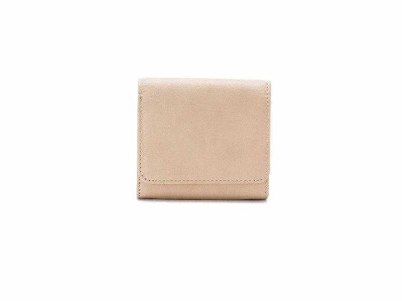 フェルモ がま口ジャバラミニ財布|ベージュ