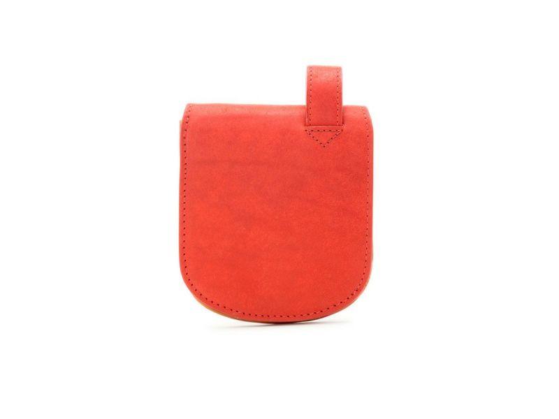 プエブロ ヒップポケット革財布(小銭入れ付き)|レッド