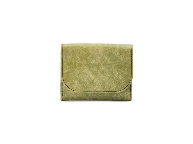 マヤ 三つ折りミニ財布 グリーン