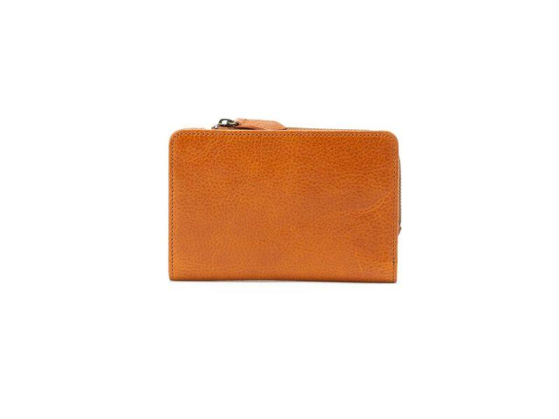 ポーラ L字ファスナー二つ折り財布 キャメル